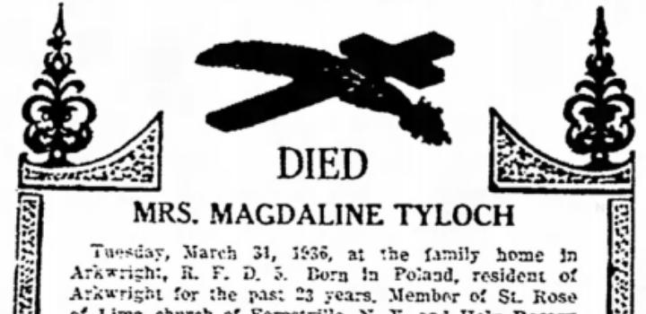 Sunday's Obituary: MagdalineTylock