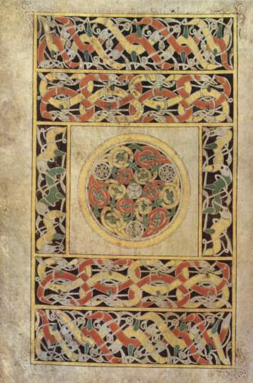 Carpet Page with Interlaced Animals