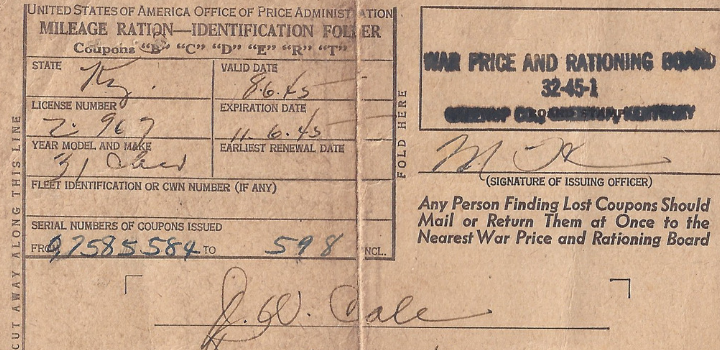 Wordless Wednesday: War Price & RationingBond