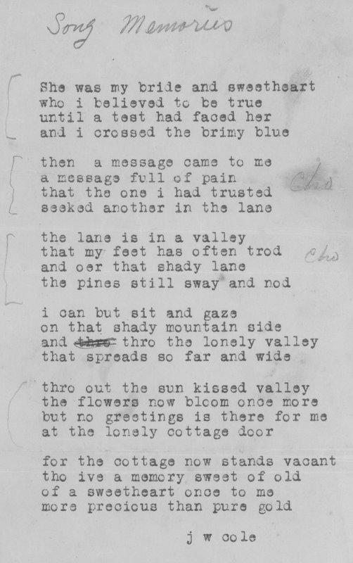 Cole, James Poem (1)