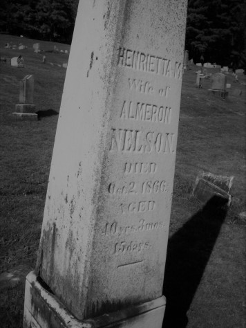 Henrietta (McClelland) Nelson 1826-1866